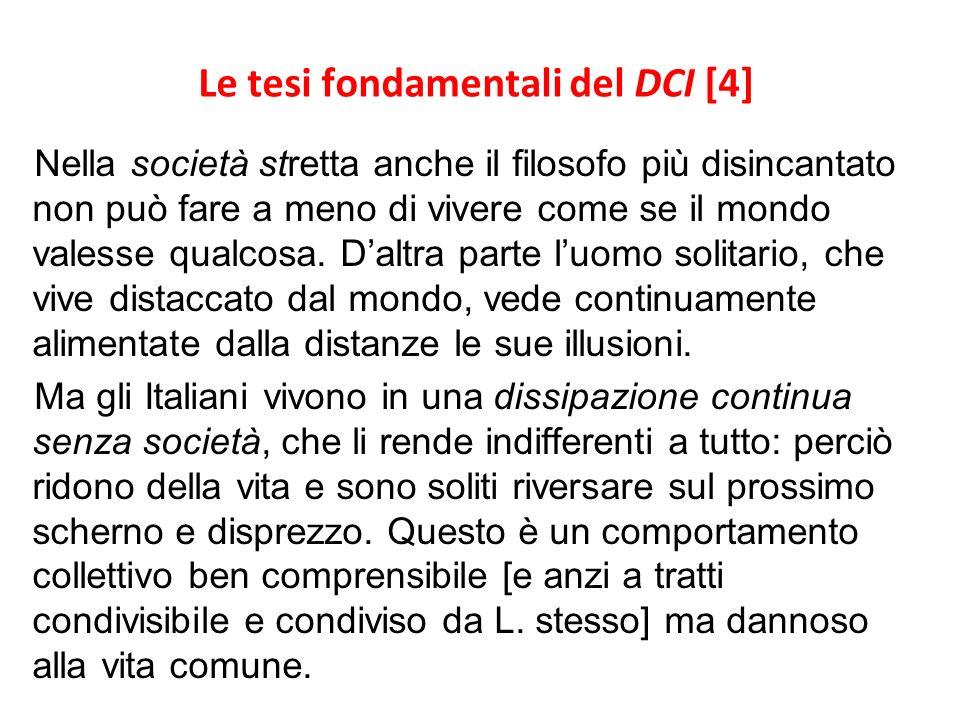Le tesi fondamentali del DCI [4]